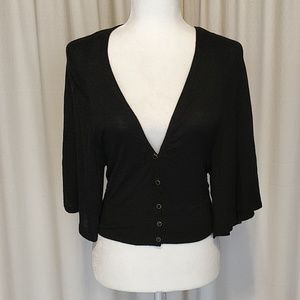 Barney's NY Co-Op Black Cropped Cardigan